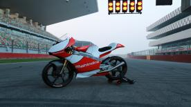 Mahindra Racing's MGP3O Racing Motorcycle makes its Indian debut at the Buddh International Circuit.