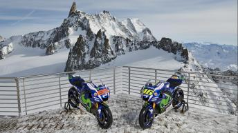 Movistar Yamaha MotoGP at Mont Blanc Massif