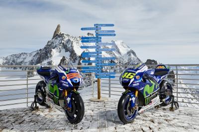 Foto-Gallerie: Movistar Yamaha beim Skifahren