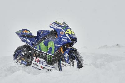 Yamaha M1 goes skiing