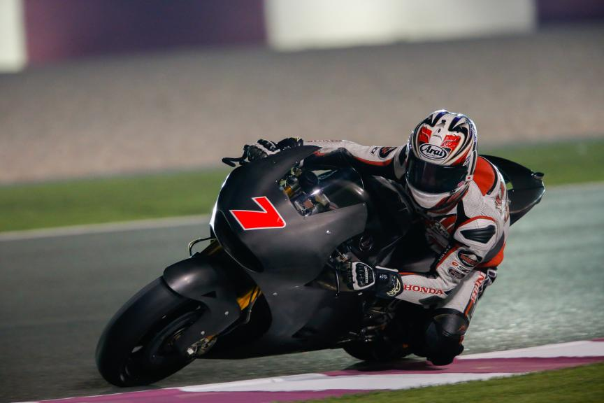 Hiroshi Ahoyama, Qatar MotoGP Official Test