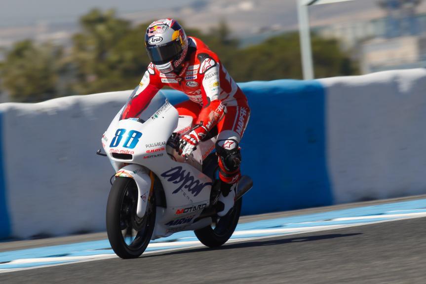 Jorge Martin, Aspar Mahindra, Jerez Official test