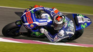 Lorenzo back on top at Qatar Test