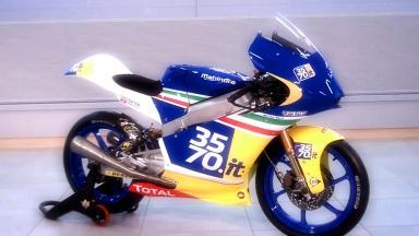 La nuova Mahindra MGP30 del Team Italia