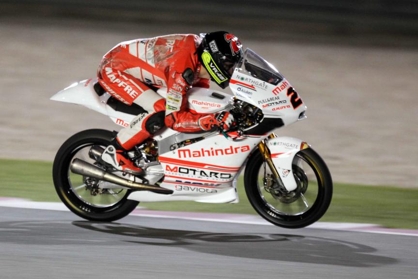 Francesco Bagnaia, ASPAR Team Moto3, Qatar Moto2-Moto3 Official Test