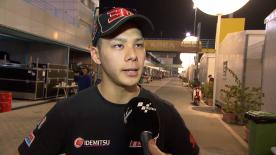 Takaaki Nakagami spent the first day of the Qatar Moto2™ test working on the setup of his Kalex, finishing in third overall.