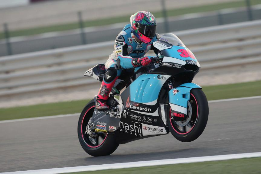 Luis Salom, SAG Team, Qatar Moto2-Moto3 Official Test