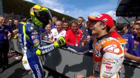 Get excited for the 2016 MotoGP™ season by reliving the battle between Rossi and Marquez that came right down to the final chicane at Assen.