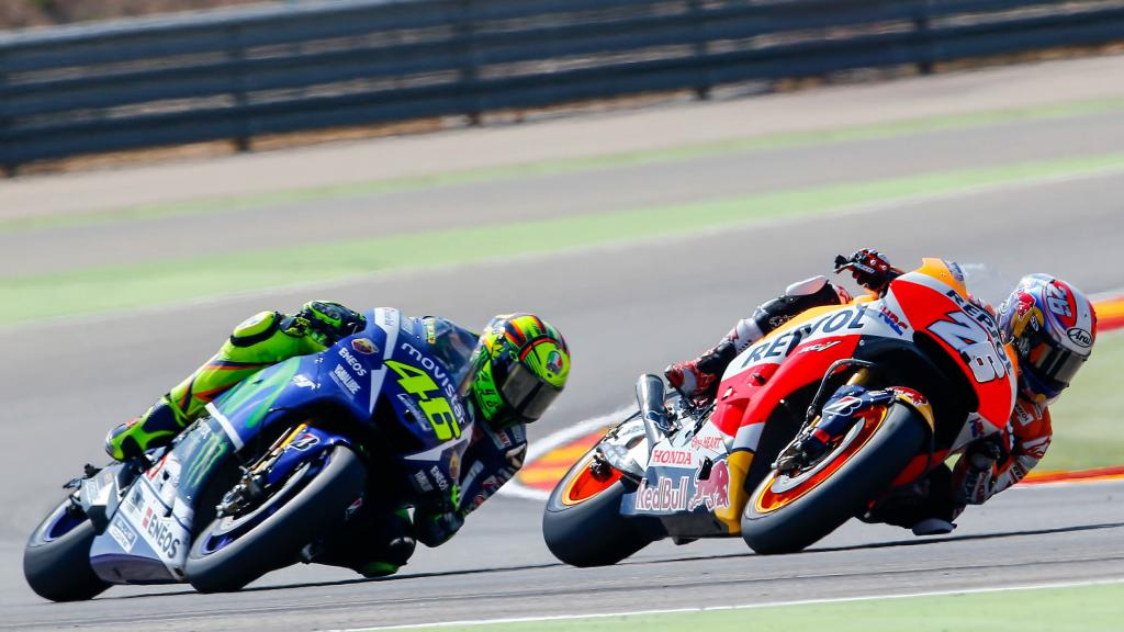 Valentino Rossi and Dani Pedrosa, Movistar Yamaha Motogp and Repsol Honda Team, Gran Premio Movistar de Aragón