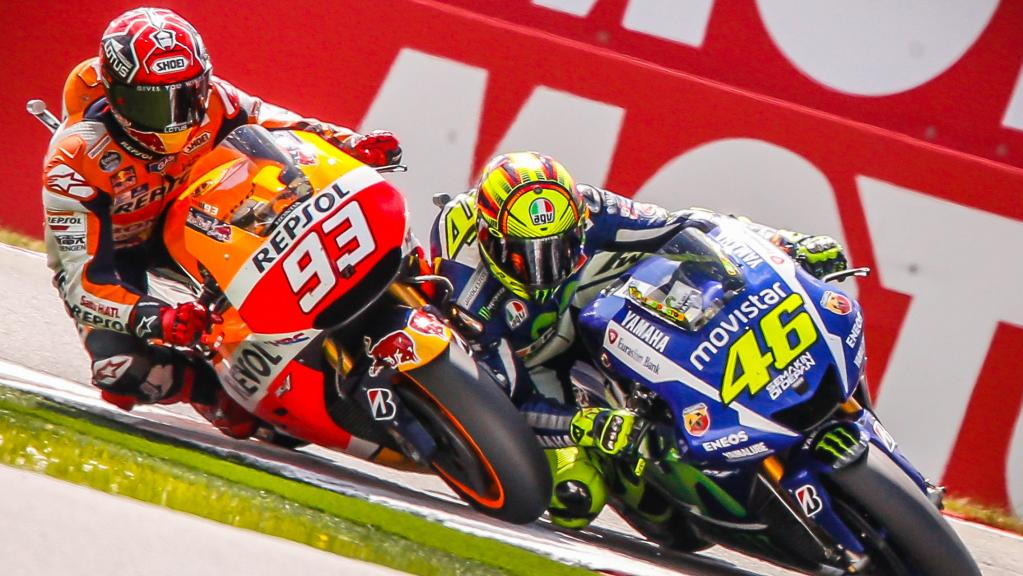 Marc Marquez and Valentino Rossi, Repsol Honda Team and Movistar Yamaha Moto Gp, Motul TT Assen