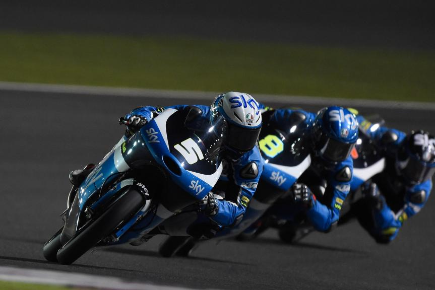 Romano Fenati, Sky Racing Team Vr46, Qatar Moto2-Moto3 Official Test