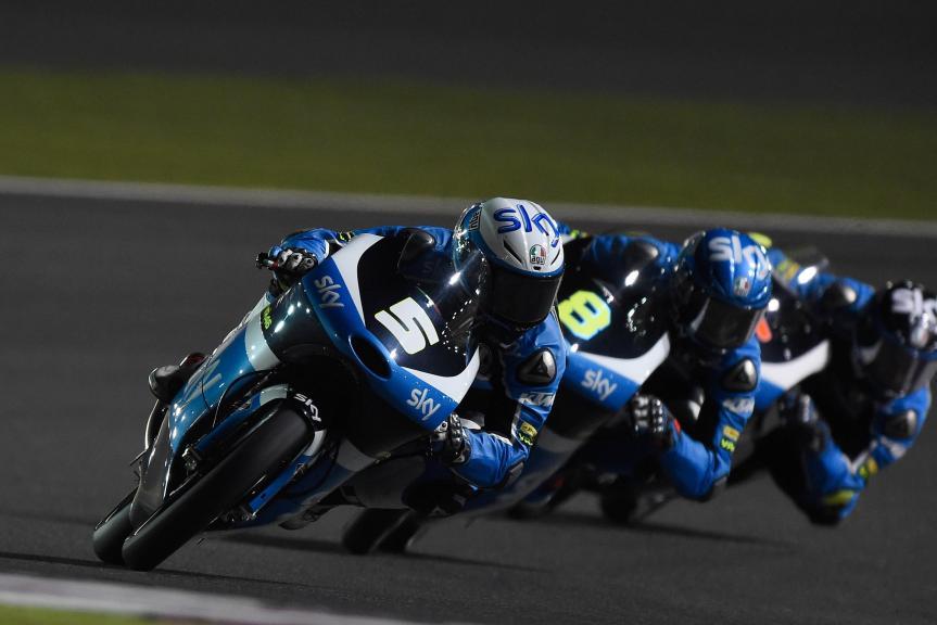 Romano Fenati, Sky Racing Team Vr46, Qatar Moto2-Moto3 Official Test