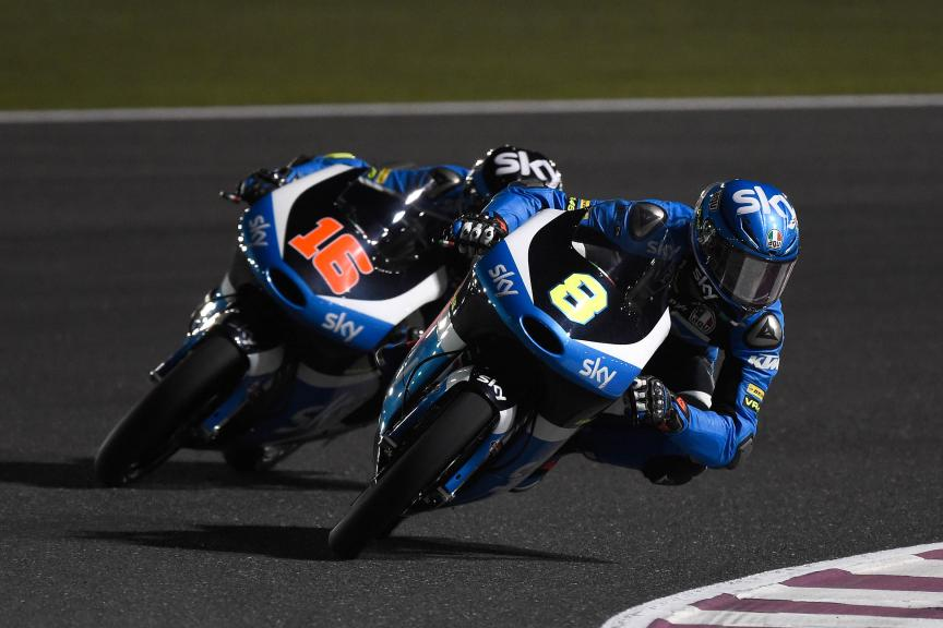 Nicolò Bulega, Sky Racing Team Vr46, Qatar Moto2-Moto3 Official Test