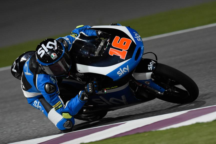 Andrea Migno, Sky Racing Team Vr46, Qatar Moto2-Moto3 Official Test