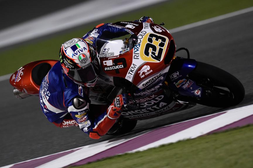 Niccolò Antonelli, Ongetta-rivacold, Qatar Moto2-Moto3 Official Test