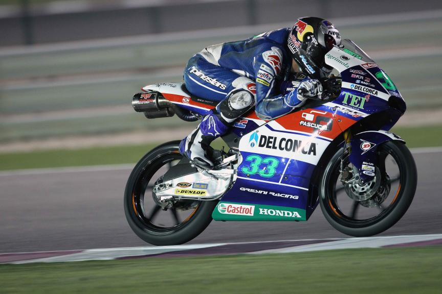 Enea Bastianini, Gresini Racing Moto 3, Qatar Moto2-Moto3 Official Test