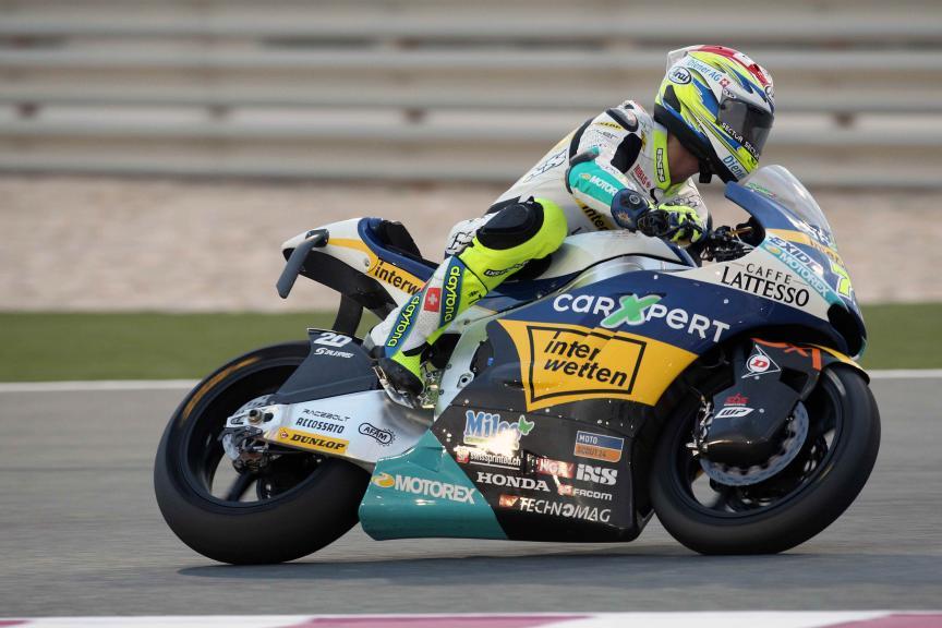 Dominique Aegerter, Carxpert Interwetten, Qatar Moto2-Moto3 Official Test