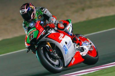 Aprilia, primo GP con la nuova moto