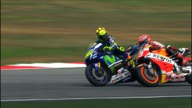 Valentino Rossi and Marc Marquez come together in the #SepangClash