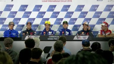 Press conference kicks off #QatarGP