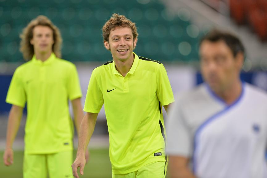 Qatar Preevent Rossi vs Xavi Hernandez Football Match