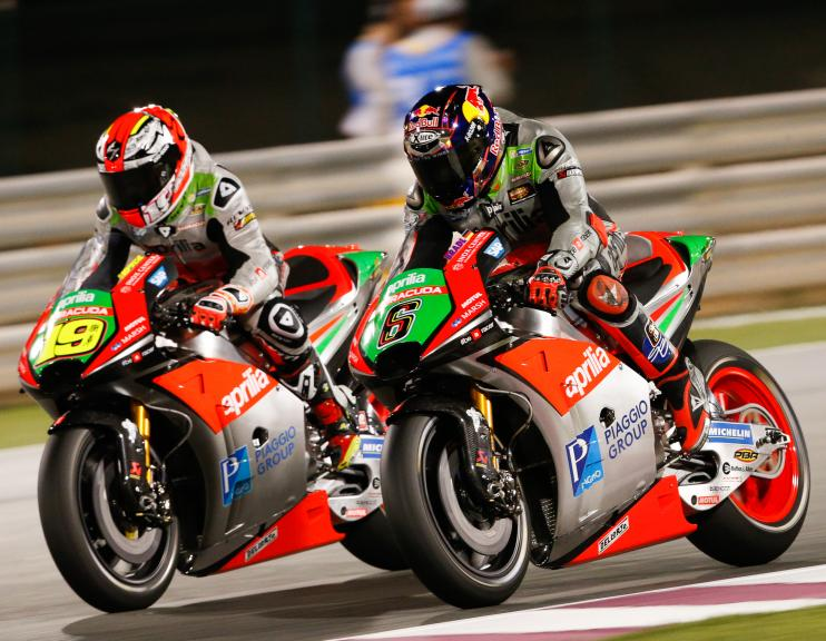 Stefan Bradl and Alvaro Bautista, Aprilia Racing Team Gresini, Grand Prix of Qatar