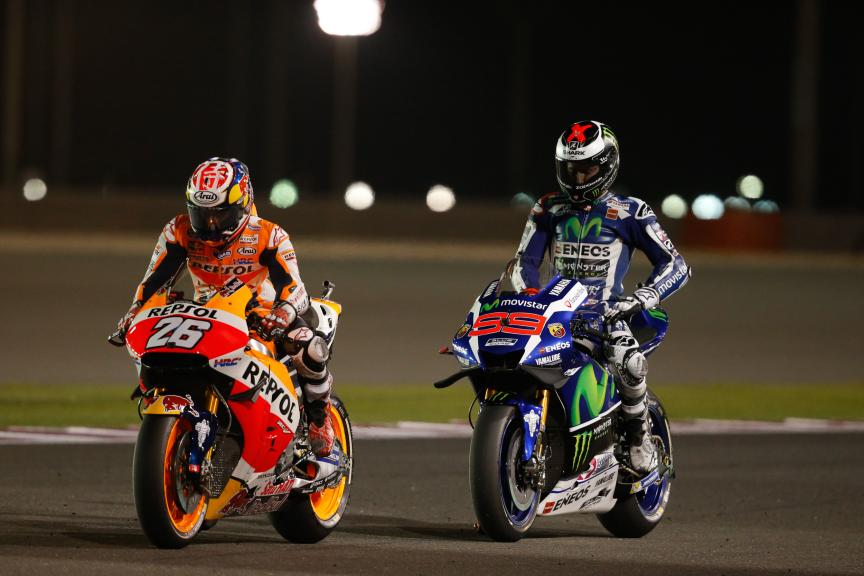 Dani Pedrosa and Jorge Lorenzo, Grand Prix of Qatar