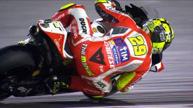 Andrea Iannone set the fastest time after a dramatic shootout in FP3 as riders tried to secure automatic qualification to Q2.