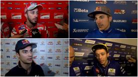 The fastest MotoGP™ riders of the day give us feedback on their Free Practice results at the #QatarGP.