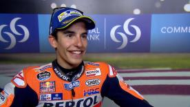 Marc Marquez says that he couldn't imagine being on the first row two weeks ago.
