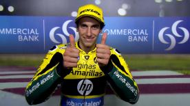Alex Rins, third in the Moto2™ timesheet, explained that he suffered a crash because he braked too hard.