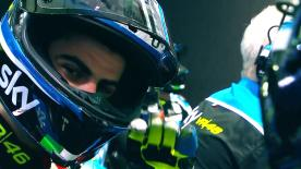 Romano Fenati secured just the second pole position of his career at the Qatar GP with a sensational last-gasp lap.