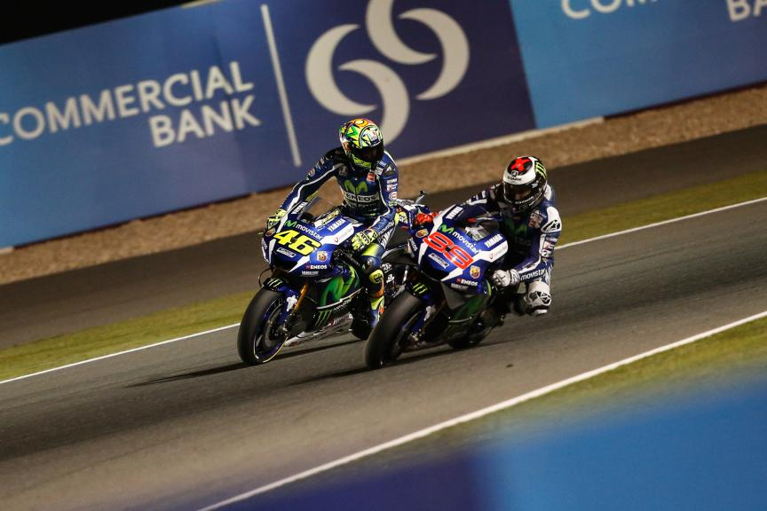 Valentino Rossi and Jorge Lorenzo, Movistar Yamaha MotoGP, Grand Prix of Qatar