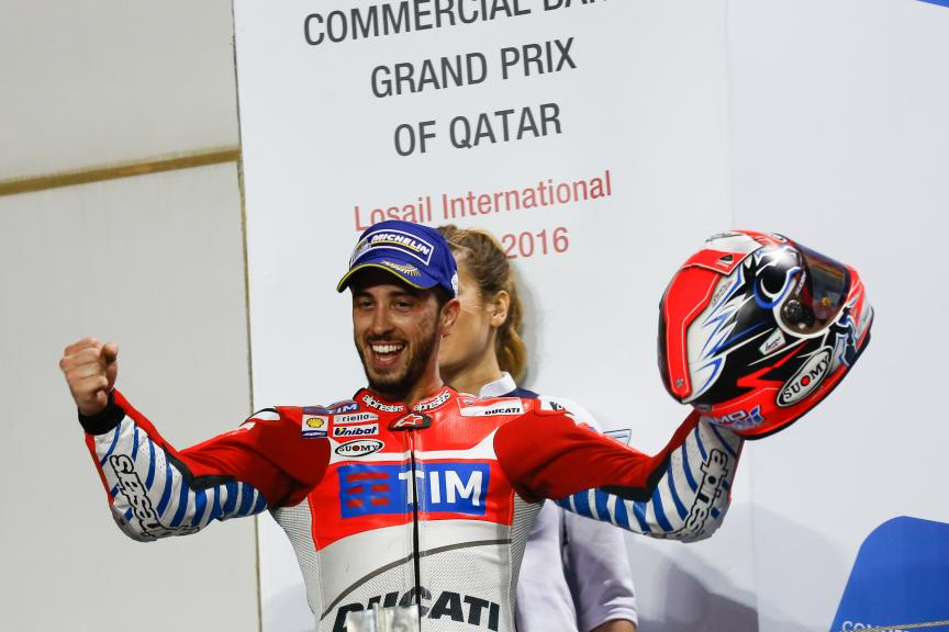 Andrea Dovizioso, Ducati Team, Grand Prix of Qatar
