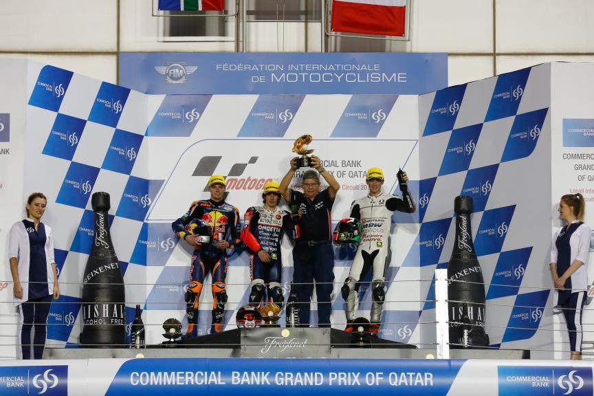 Podium in Grand Prix of Qatar