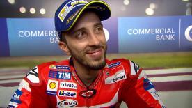Il pilota Ducati è secondo dopo il testa a testa con Marquez all'ultima curva, la spunta la moto italiana.