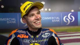 Il pilota Red Bull KTM Ajo è secondo nella volata finale della classe leggera.
