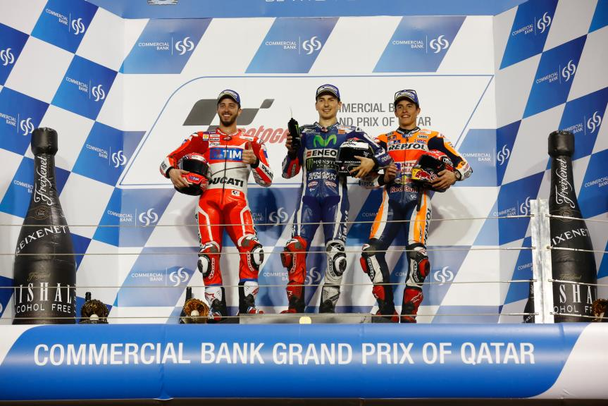 Podium in Grand Prix of Qatar