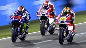 Deim Katar GP überzeugte die neue Ducati Desmosedici GP mit ihrer schieren Power.