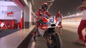 hat sich nach den zwei privaten Testtagen auf dem Losail International Circuit mit Casey Stoner von Ducati unterhalten.