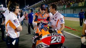 Il GP del Qatar non è andato come sperato da Dani Pedrosa, quinto a tredici secondi dal vincitore Jorge Lorenzo.