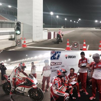 Very productive test on the @DucatiMotor #desmosedici here in Qatar!