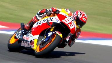 Highlights: Marquez mit Bestzeit, Lorenzo in Schwierigkeiten