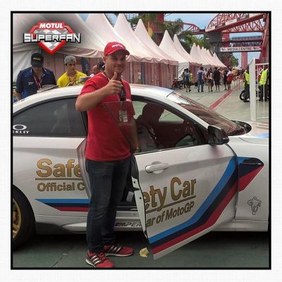 #MotulSuperFan @brayonfredel_motul about to head off for his Safety Car