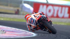 Marc Marquez took his 31st MotoGP™ pole position at the Argentina GP with a sensational lap ahead of Valentino Rossi and Jorge Lorenzo.