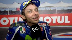 Valentino Rossi claimed 2nd position in Qualifying for the Argentina GP.
