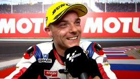 Sam Lowes gets the Moto2™ Pole Position in an astonishing final lap.