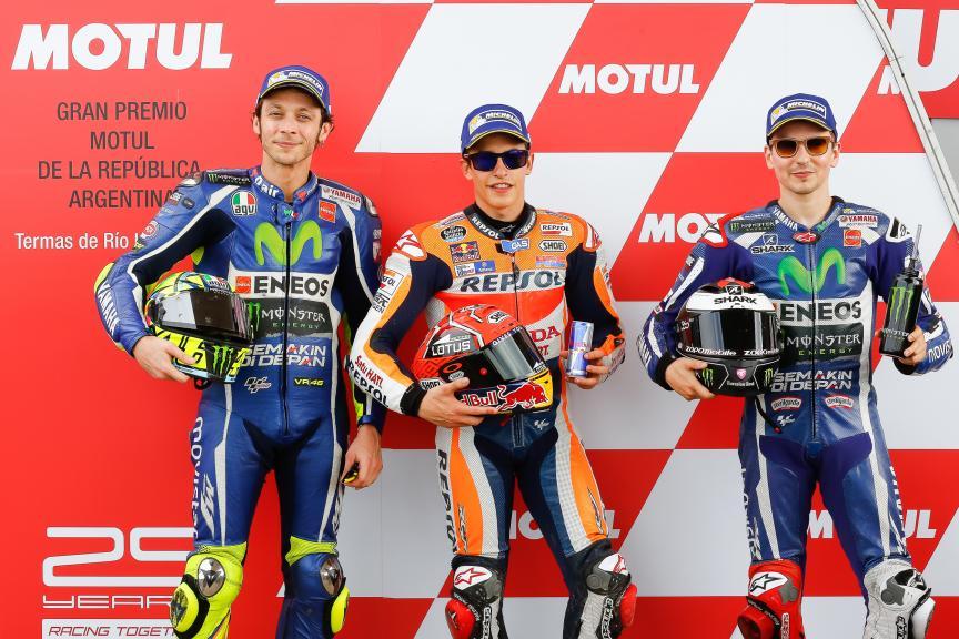 Valentino Rossi, Marc Marquez, Jorge Lorenzo, Movistar Yamaha Motogp, Repsol Honda Team, Gran Premio Motul de la República Argentina
