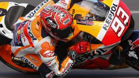 Marc Marquez took a commanding win from Valentino Rossi and Dani Pedrosa in a crash-filled flag-to-flag Argentina GP.