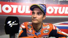 Dani Pedrosa was very unsatisfied despite third place after recovering from the back of the pack.